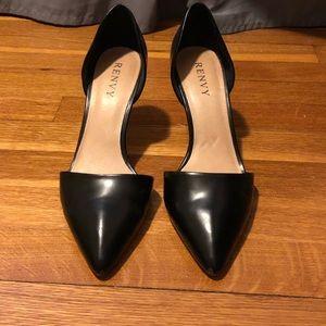 Renvy black leather pumps
